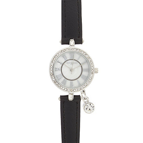 Infinite - Ladies black charm watch