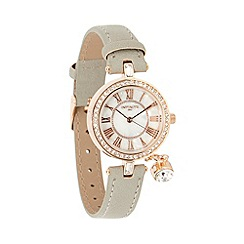 Infinite - Ladies grey crystal charm watch