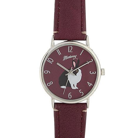 Mantaray - Ladies purple rabbit dial watch
