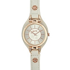 Mantaray - Ladies white cuff strap watch