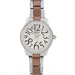 Floozie by Frost French - Silver diamante Dali dial watch