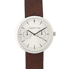 Red Herring - Mens brown mock multi dial watch