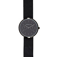 Red Herring - Mens black dial watch