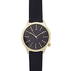 Red Herring - Mens navy grained strap watch