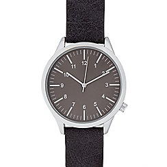 Red Herring - Mens grey grained strap watch