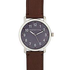 Red Herring - Mens brown analogue watch