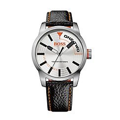 Boss Orange - Men's silver quartz strap watch