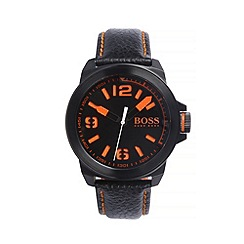 Boss Orange - Men's black quartz strap watch