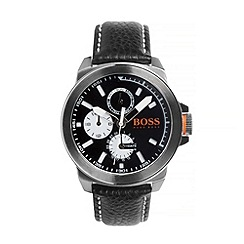 Boss Orange - Men's black chronograph strap watch