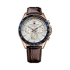 Tommy Hilfiger - Men's white chronograph strap watch