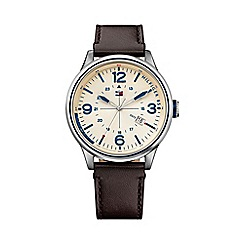 Tommy Hilfiger - Men's cream dial strap watch 1791102