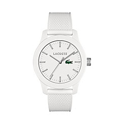 Lacoste - Men's white dial strap watch
