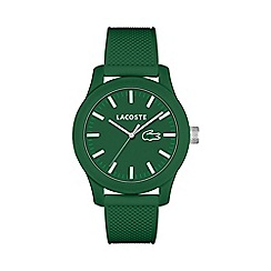 Lacoste - Men's green dial strap watch
