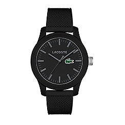 Lacoste - Men's black dial strap watch