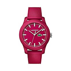 Lacoste - Men's red dial strap watch