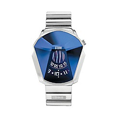 STORM London - Men's silver faceted glass dial bracelet watch darth lzr blue