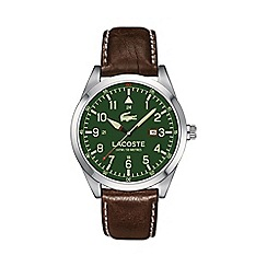 Lacoste - Men's green dial strap watch 2010781