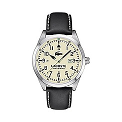 Lacoste - Men's cream dial strap watch