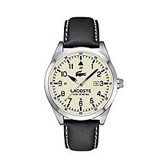 Lacoste - Men's cream dial strap watch