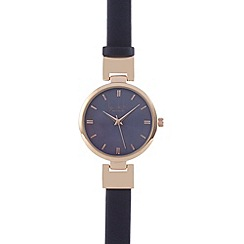 Principles by Ben de Lisi - Blue metallic hinged watch