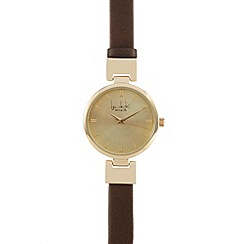 Principles by Ben de Lisi - Bronze metallic hinged watch