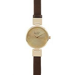Principles by Ben de Lisi - Bronze metallic hinged watch