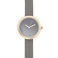 Principles by Ben de Lisi - Ladies grey leather analogue ombre watch