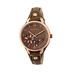 Kahuna - Ladies marsupial cut through dial strap watch