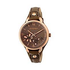 Kahuna - Ladies marsupial cut through dial strap watch kls-0310l