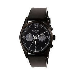Kahuna - Gents grey silicone strap multi dial watch