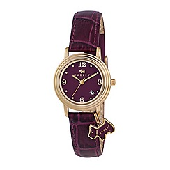 Radley - Ladies  watch with gold plated case and purple genuine leather strap