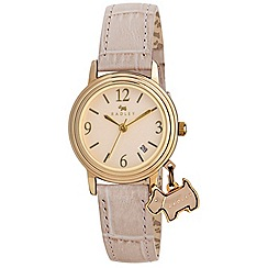 Radley - Ladies  watch with gold plated case and caramel genuine leather strap