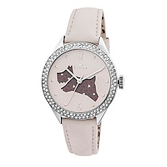 Radley - Ladies watch with stainless steel case and cream genuine leather strap