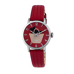 Radley - Ladies watch with stainless steel case and ruby genuine leather strap