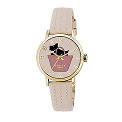 Radley - Ladies watch with gold plated case and gypsum genuine leather strap