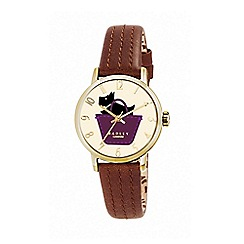 Radley - Ladies watch with gold plated case and tan genuine leather strap ry2290