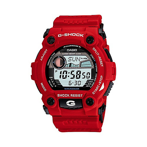 G-shock - Men+s red digital watch