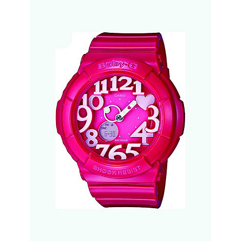 Baby-G - Ladies pink +baby-g+ illuminator watch