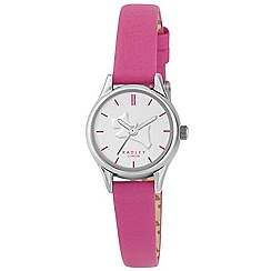 Radley - Ladies watch with silver plated case and rosebud genuine leather strap