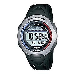 Casio - Men's black 'sea pathfinder' watch
