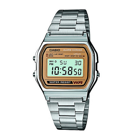 Casio - Men+s silver two tone bracelet watch