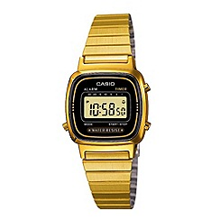 Casio - Ladies gold plated lcd watch