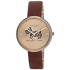 Radley - Ladies watch with gold case and tan genuine leather strap