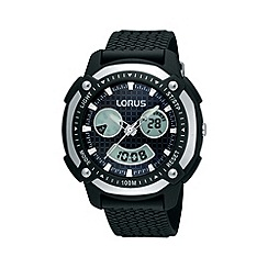 Lorus - Men's black and grey digital watch