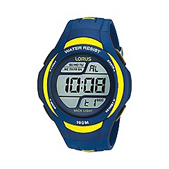 Lorus - Men's blue and yellow digital watch