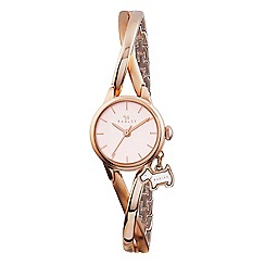 Radley - Ladies watch with rose gold plated case and rose gold plated half bangle