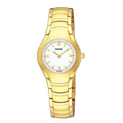 Pulsar - Ladies gold plated 30m bracelet watch