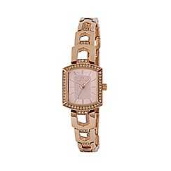 Radley - Ladies watch with  stone set rose gold plated case and rose gold bracelet