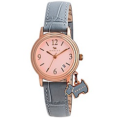Radley - Ladies watch with rose gold plated case and scuba genuine leather strap