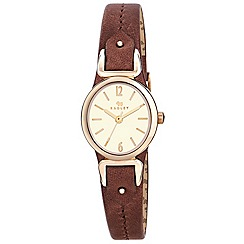 Radley - Ladies watch with gold plated case and tan genuine leather strap